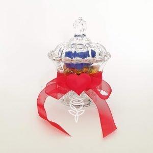 copa rosa preservada azul barcelona