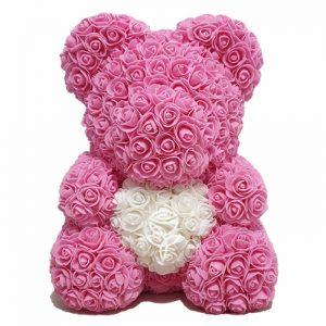 oso de rosas rosado barcelona