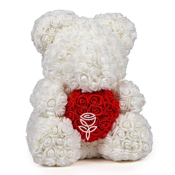 oso de rosas blanco barcelona