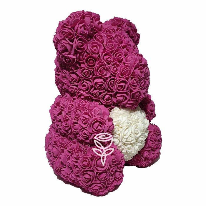 oso de rosas fucsia