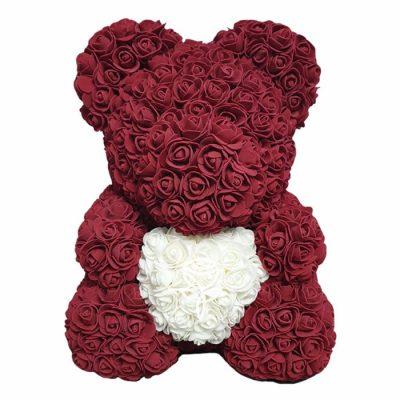 oso de rosas granate