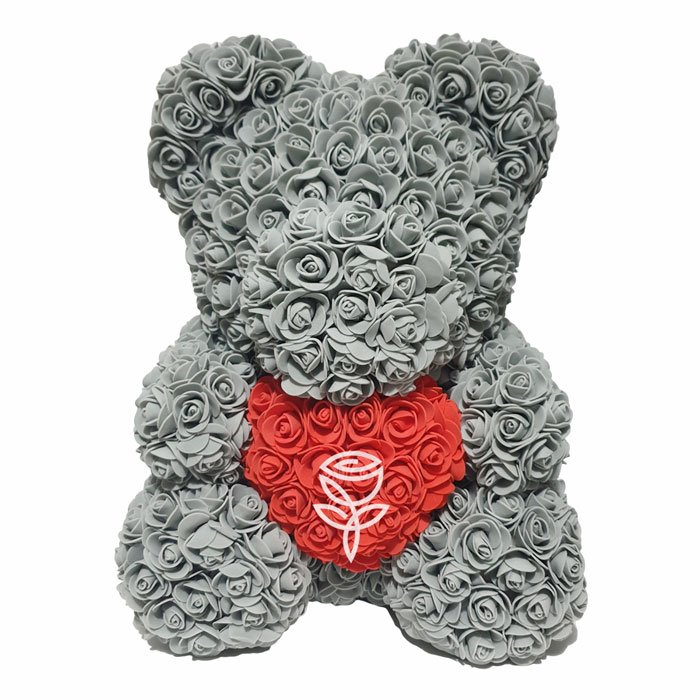 Oso de rosas gris barcelona