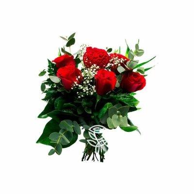 ramo de 6 rosas rojas ecuatorianas