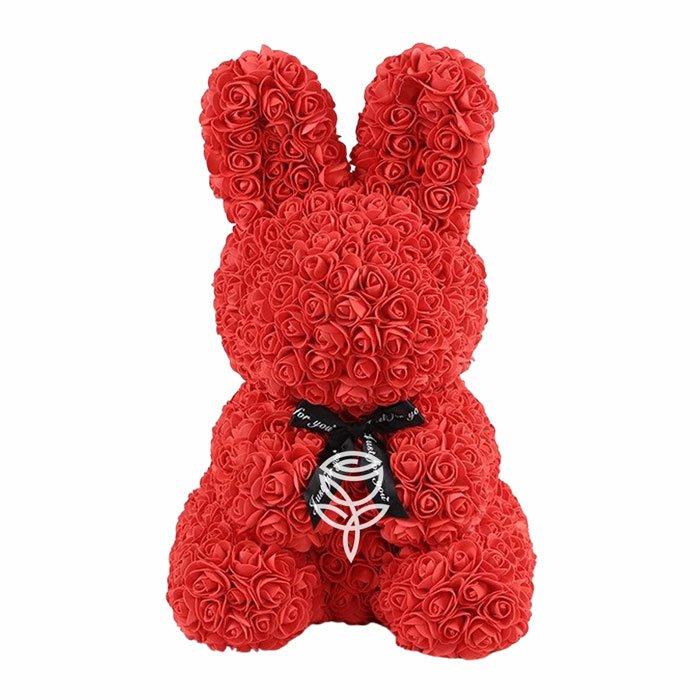 conejo de rosas rojo 40cm